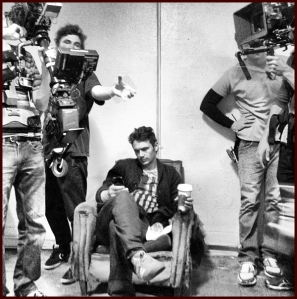 James Franco on set of his debut movie.