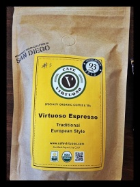 7th. Virtuoso. Espresso blend. A roaster from San Diego