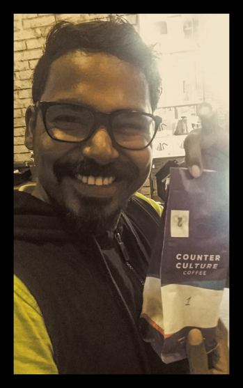 The winning coffee. And Mr Raja.